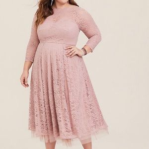 Torrid Blush Special Occasion Dress